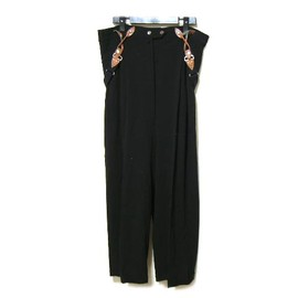 "Jean Paul GAULTIER - ""suspender"" bust wide pants"