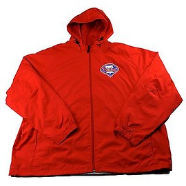 MLB - Philadelphia Phillies MLB Red Windbreaker Jacket Mens Sportswear Size 3XL XXXL
