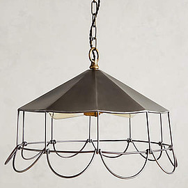 Anthropologie - Flowering Steel Pendant Lamp