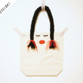 MARU△SIKAKU - OSAGE GIRLS TOTE (BLACK)