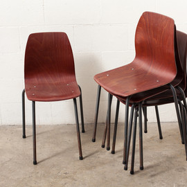 AMSTERDAM MODERN - INDUSTRIAL DINING CHAIR WITH SINGLE SHELL SEAT