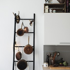 Ladder as Pot Rack