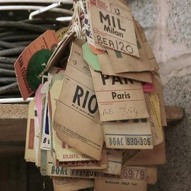 Old luggage tags
