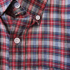 Band of Outsiders - Red Micro Plaid BD Shirt