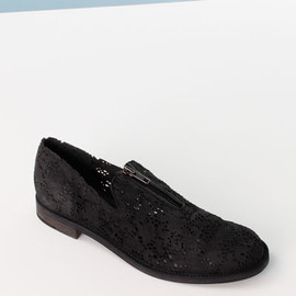 LD Tuttle - The Chrome Zipper Flats- Black