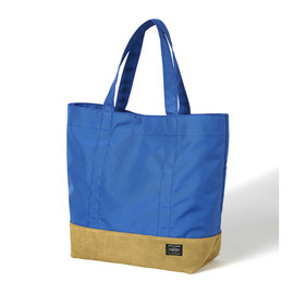 "HEAD PORTER - ""JACKSON"" SHOPPING BAG (L) BLUE"