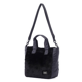 "HEAD PORTER - ""DUPLEX"" TOTE BAG BLACK"