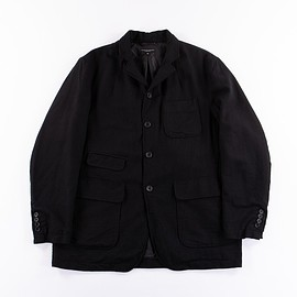 Engineered Garments - Landsdown Jacket - Black Worsted Wool Flannel