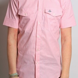 Vivienne Westwood MAN - Short Sleeved Shirt in Pink