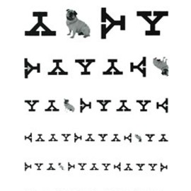 Paul Rand - Yale Eye Chart Poster, Yale University, 1985