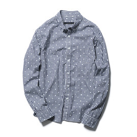 SOPHNET. - FLOWER DOT GINGHAM CHECK B.D SHIRT