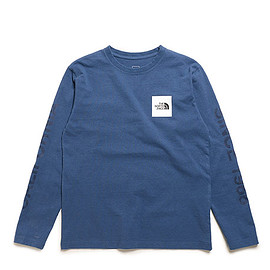 THE NORTH FACE - L/S Square Logo California Tee-SB