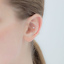Hirotaka Jewelry - Akoya Pearl Ear Cuff 7/4mm