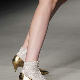 Saint Laurent - SS2014 Golden Python Pumps