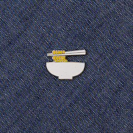 The Hill-Side - Cloisonné Enamel Lapel Pin, Ramen