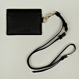 JIL SANDER - Card Holder with Strap in Black