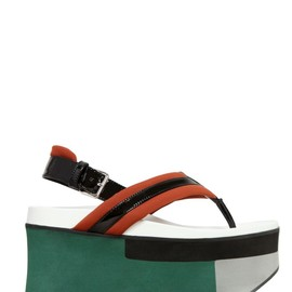 MARNI - 90MM COTTON NEOPRENE PLATFORM SANDALS