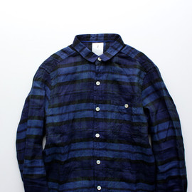 maillot - libral linen check work shirts