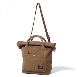 "HEAD PORTER - ""BANFF"" 2WAY TOTE BAG (S) BROWN"