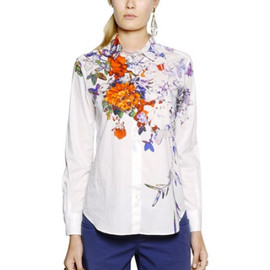ETRO - Multicolor Printed Cotton Poplin Shirt