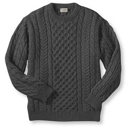L.L.Bean - Irish Fisherman's Sweater, Crewneck