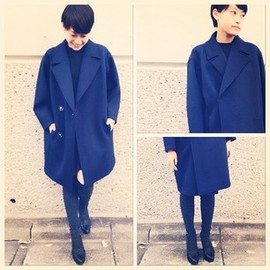 G.V.G.V. - big lapel double coat