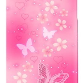 SECOND SKIN - uistore 「Butterfly (Pink)」 / for iPhone 4S/au