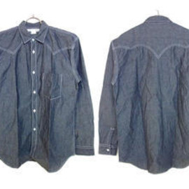COMME des GARÇONS SHIRT - 13SS Cotton Dungaree With Contrasted Stitching L/S Shirt
