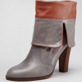 Chloé - Fold-Over Mid-Calf Leather Boot