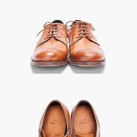 N.D.C. Made By Hand - 'Tan Lump Dress Shoes'.