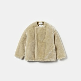 HYKE × EDITION - FAUX FUR REVERSIBLE COAT
