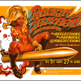 "Rockin'Jelly Bean - ""RJB EXCIBITION"" Silk screen poster"