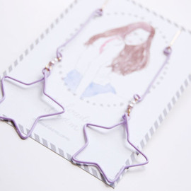 a cloudy dream - Purple wire pierce/twinkle stars