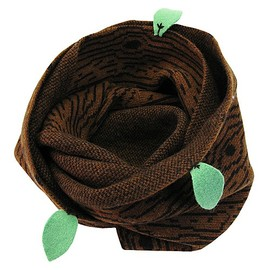 And A KOMONO - Donna Wilson Snood Wood with Leaves シングルスヌード