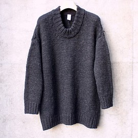 NO CONTROL AIR, ノーコントロールエアー - British wool 3G bulky knit U-neck