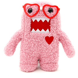 Domo Official Licensced Product - Domo Pink Nerd Heart Plush