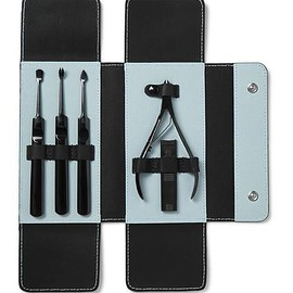 Stainless Steel and Carbon Fibre Manicure Set