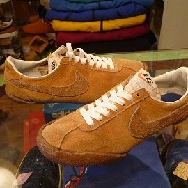 "NIKE - 「<used>70's NIKE SHOT & DISCUS lightbrown/brown""made in JAPAN"" size:US7/h(25.5cm) 19800yen」完売"