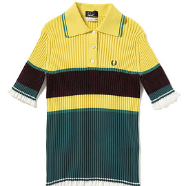 FRED PERRY - Akane Utsunomiya Rib Knitted Shirt | FRED PERRY JAPAN