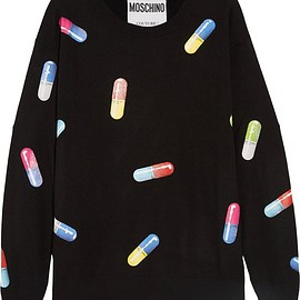 Moschino - Printed wool sweater