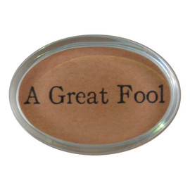 John Derian - A Great Fool - Oval Paperweight