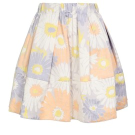 MARC JACOBS - Underside Printed Cotton-linen Full Skirt