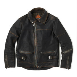 bal, CYDER HOUSE - WASHED HORSE LEATHER BIKER by CYDER HOUSE