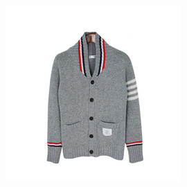 Thom Browne - Grey Shawl Cardigan