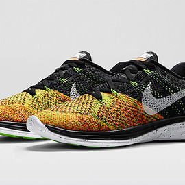 Nike - Flyknit Lunar 3 - Black/Electric Geen/Total Orange