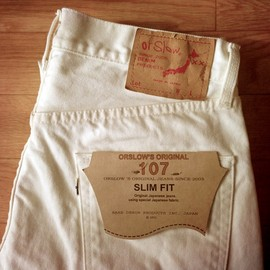 orSlow - 107 white denim