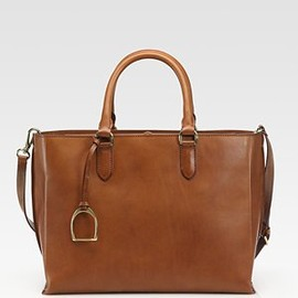 RALPH LAUREN - Leather Saddle Tote