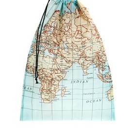 KIKKERLAND - World Map Travel Laundry Bag