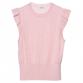 miu miu - 【'12Fall】Miu Miu JUMPER lacy silk cashmere top 1