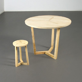 Christian Ferrara - Ter - table and stool
